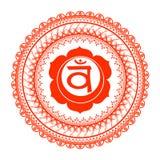 Circle mandala pattern. Swadhisthana chakra. Royalty Free Stock Photography