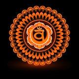 Circle mandala pattern. Swadhisthana chakra. Circle mandala pattern. Swadhisthana chakra vector illustration Stock Photo
