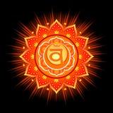 Circle mandala pattern. Swadhisthana chakra. Circle mandala pattern. Swadhisthana chakra vector illustration Royalty Free Stock Photo