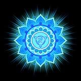 Circle mandala pattern. Vishuddha chakra. Circle mandala pattern. Vishuddha chakra vector illustration Stock Photo