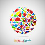 Circle from many parts. Vector illustration Stock Photos