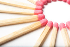 Circle of Matches. Some red matches forming a circle Royalty Free Stock Image
