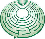 Circle maze Royalty Free Stock Photo