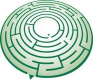 Circle maze. A green circular maze illustration Royalty Free Stock Photo