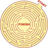 Circle Maze royalty free illustration
