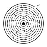 A circle maze Stock Images