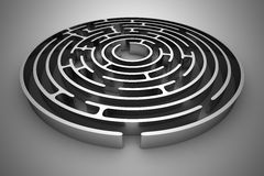 Circle maze Stock Photos