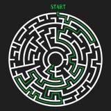 Circle Maze Vector Royalty Free Stock Photos