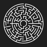 Circle Maze Vector Royalty Free Stock Photography