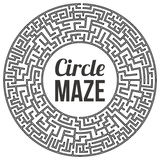 Circle Maze Vector. Circle Maze. Labyrinth with Entry and Exit. Find the Way Out Concept. Transportation. Logistics Abstract Background Concept. Transportation Royalty Free Stock Photo