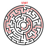 Circle Maze Vector Stock Photo