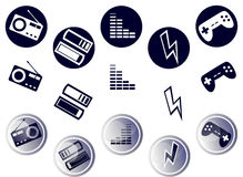 Circle Media Icons Stock Photo