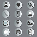 Circle medical icons Stock Photos
