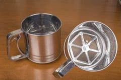 Circle metal for sifting flour Royalty Free Stock Image