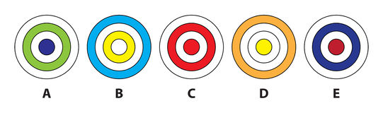 Circle Mind Game. Illustration is in eps8  mode! Task: Which of the four pictures does not fit in? Answer: D Stock Photo