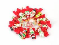 Circle Miniature Ribbons  and Ornaments Royalty Free Stock Image
