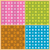 Circle mix with curve line patterns Royalty Free Stock Images