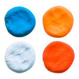 Circle,modelling clay of different colors Royalty Free Stock Photo