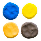 Circle,modelling clay of different colors Stock Photo