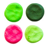 Circle,modelling clay of different colors Stock Photography