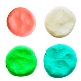 Circle,modelling clay of different colors Stock Images