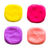 Circle,modelling clay of different colors Royalty Free Stock Photography