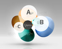 Circle modern business infographics design template. Vector template background for print workflow layout, diagram, number options or web design banner Stock Photography