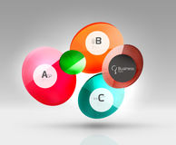 Circle modern business infographics design template. Vector template background for print workflow layout, diagram, number options or web design banner Stock Image