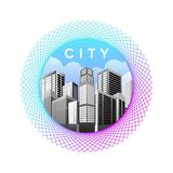Modern city. Circle modern city center abstracts royalty free illustration