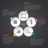 Circle modern Infographic Royalty Free Stock Photo