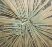 Circle of Money: Twenty Dollar Bills, Radial Blur Stock Photos