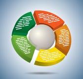 Circle multicolor graph Stock Photo