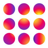 Circle multicolor pattern Instagram. Geometric background. Circle multiple colors seamless pattern. Instagram backgrounds for icons - set. Colorful big dots on Royalty Free Stock Photography