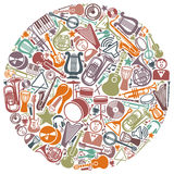 Circle from musical symbols Stock Images