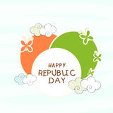 Circle in national flag color for Indian Republic Day celebratio Royalty Free Stock Photo