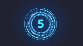 Circle neon clock countdown