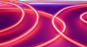 Circle neon signs. Lighting night club lights Stock Image