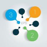 Circle number diagram, options, step by step template. Vector illustration Royalty Free Stock Image