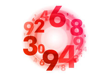 Circle of numbers Royalty Free Stock Images