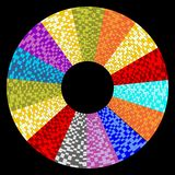 Circle object designed as mosaic circular sector Royalty Free Stock Photo