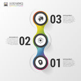Circle objects. infographic design. Template for diagram, graph, Stock Photo