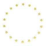 Circle Of Gold Stars Royalty Free Stock Photography