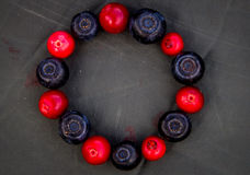 Circle off berries. A circle off berries close up Stock Photo