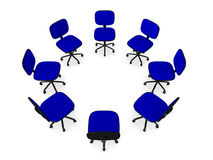 Circle of Office chairs 2 Stock Photo