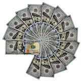 Circle. Of one hundred dollar bills isolated on white background Royalty Free Stock Photography