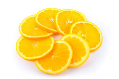 Circle of Orange Slices. Orange slices arranged in a circle Royalty Free Stock Photos