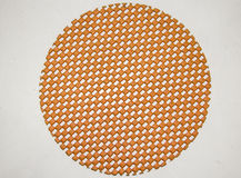 Circle. An orange circle with a woven style Royalty Free Stock Photo