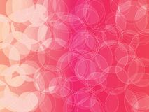 Pink bubble background. Circle orb pink red salmon pink shades abstract vector background stock illustration