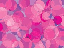 Pink bubble background. Circle orb purple pink violet blue shades abstract vector background royalty free illustration