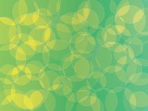 Yellow green bubblle background. Circle orb yellow green shades abstract background vector illustration
